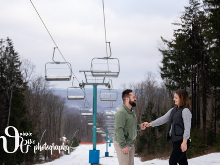 Holiday Valley engagement session | Ellicottville NY