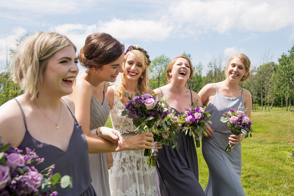 mismatching bridemaid dresses and jumpsuit wedding traditions you can skip