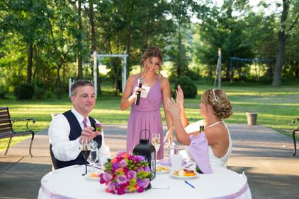 bridesmaid speech at Banchetti by Rizzo Buffalo NY wedding reception