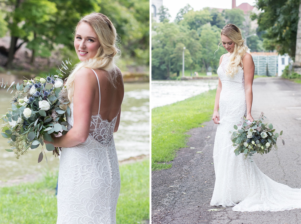 upson park lockport bridal portraits wedding