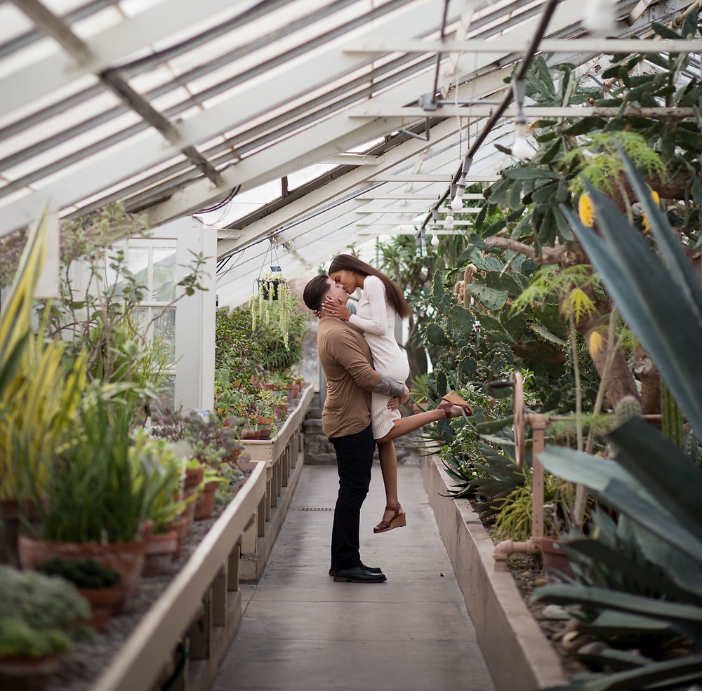 best places for indoor engagement wedding photos Buffalo Botanical Gardens
