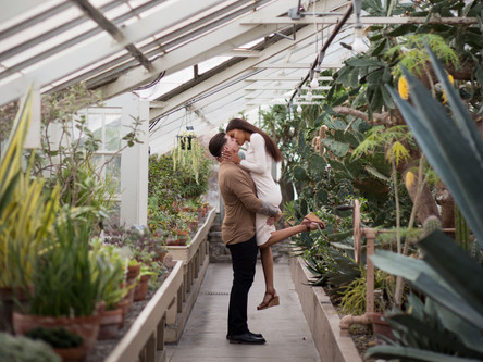 Buffalo Botanical Gardens Engagement Session