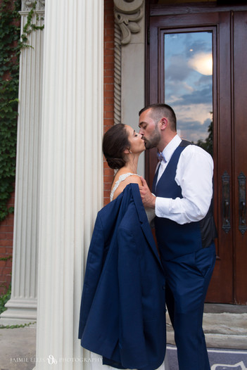 bride and groom photo at Mansion on Delaware Buffalo NY wedding