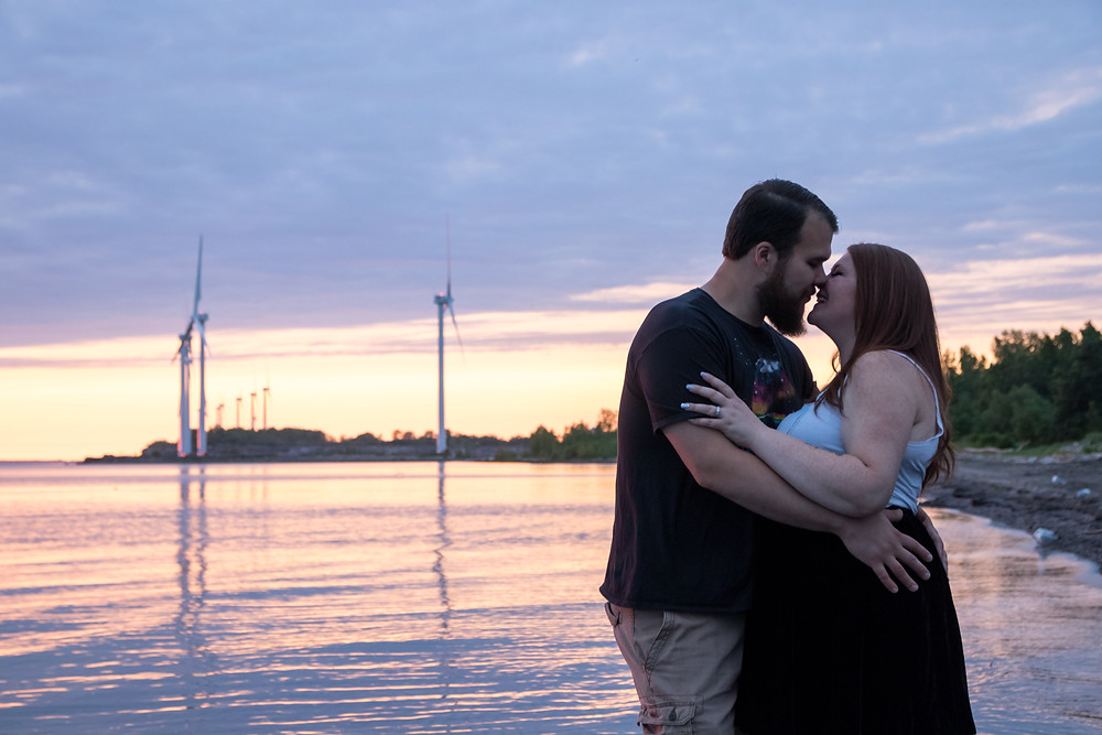 Woodlawn Beach Sunset Engagement Photography