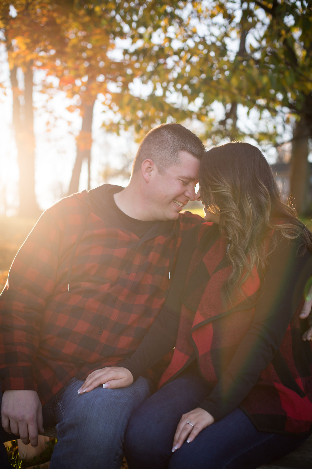 Geneseo NY finger lakes fall golden hour couples engagement photo candid documentary intimate photography