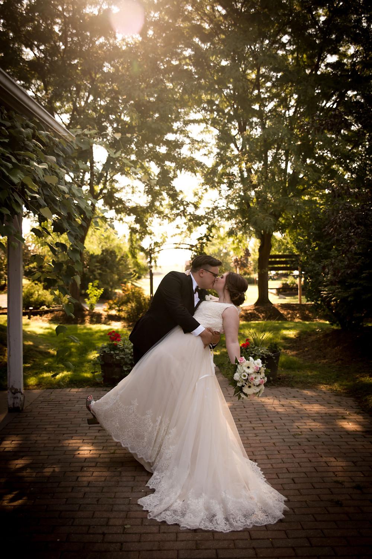 Becker Farms Vizcarra Vineyards Gasport NY elopement wedding bride groom portrait