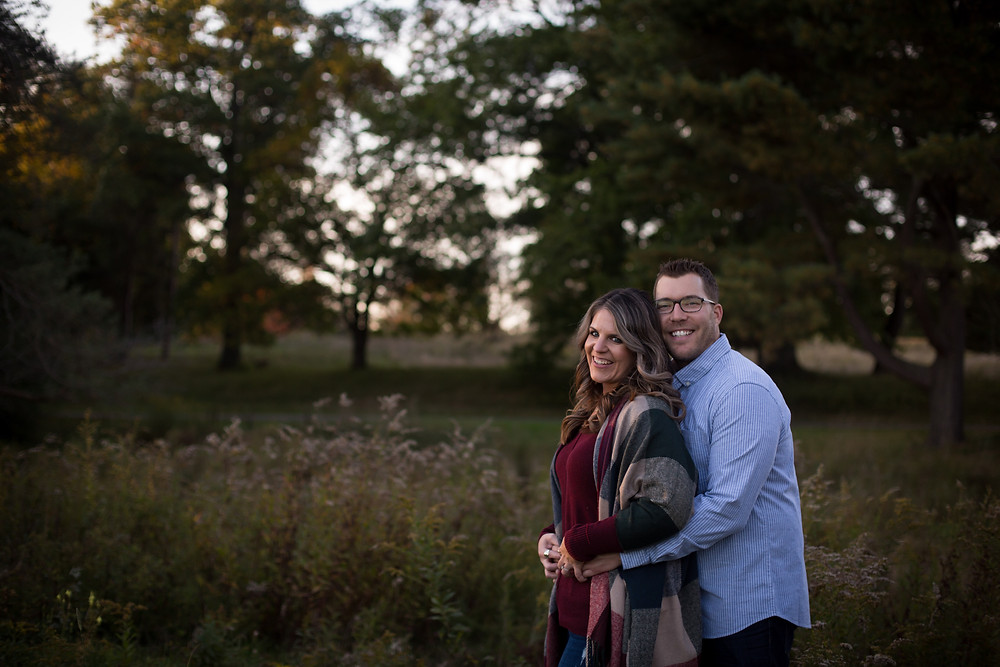 fall engagement session in western NY best spot Knox Farm East Aurora