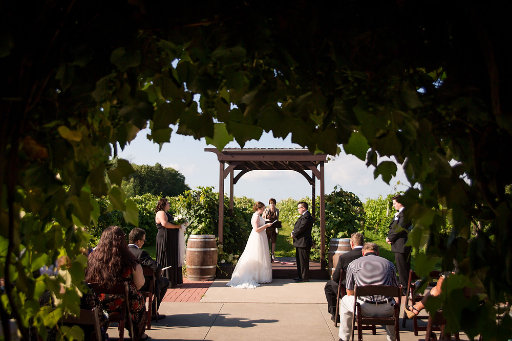 Becker Farms Vizcarra Vineyards Gasport NY intimate wedding elopement ceremony covid option