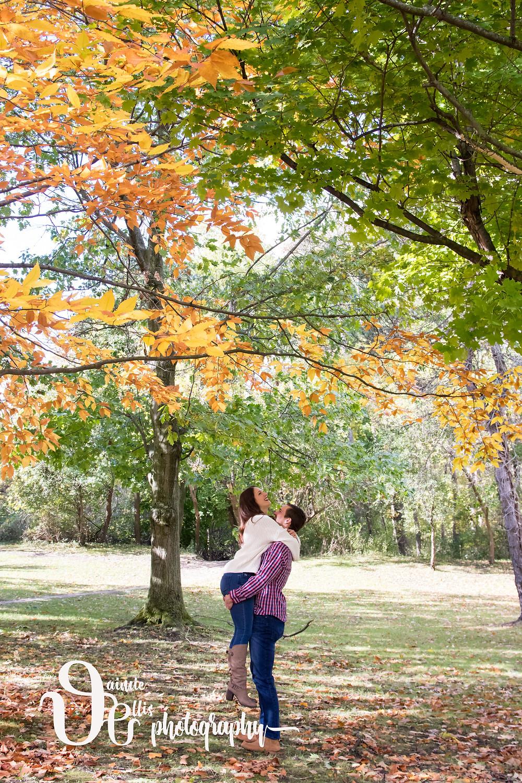 Glen Falls Park Williamsville Autumn Fall Engagement Photo