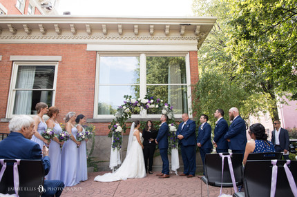 intimate wedding ceremony at Mansion on Delaware Ave in Buffalo NY