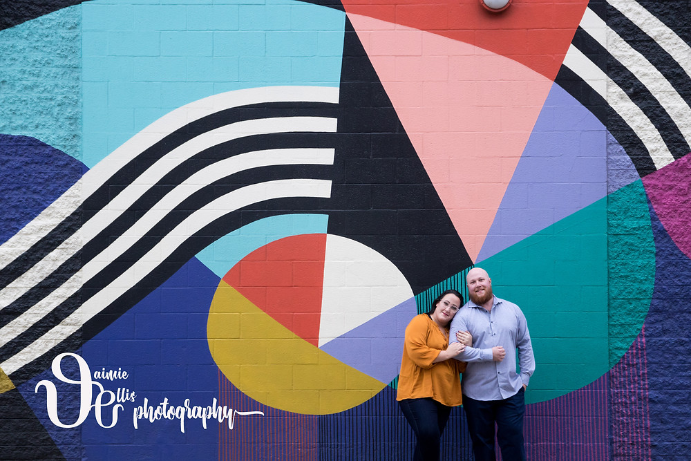 downtown Buffalo engagement photos shea's 710 mural
