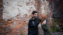 Engagement photos at Buffalo's Cobblestone District + Labatt Brew House