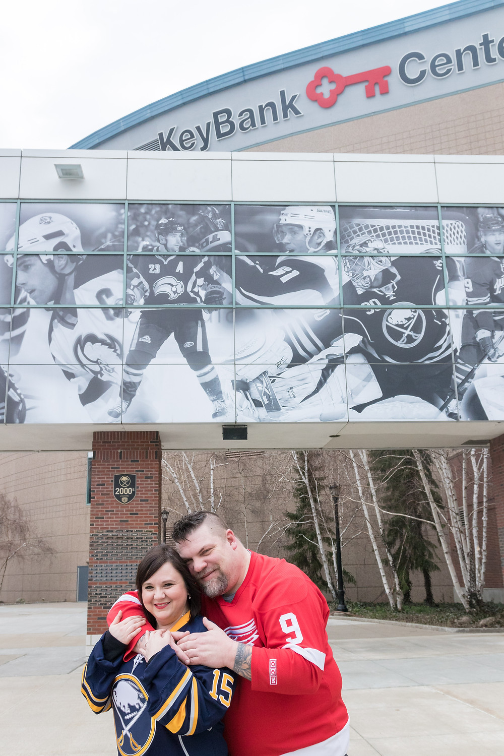 buffalo sabres Keybank center engagement photos