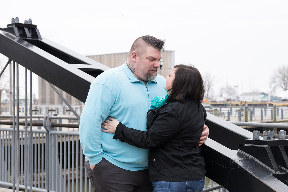 canalside bridge wedding engagement buffalo ny