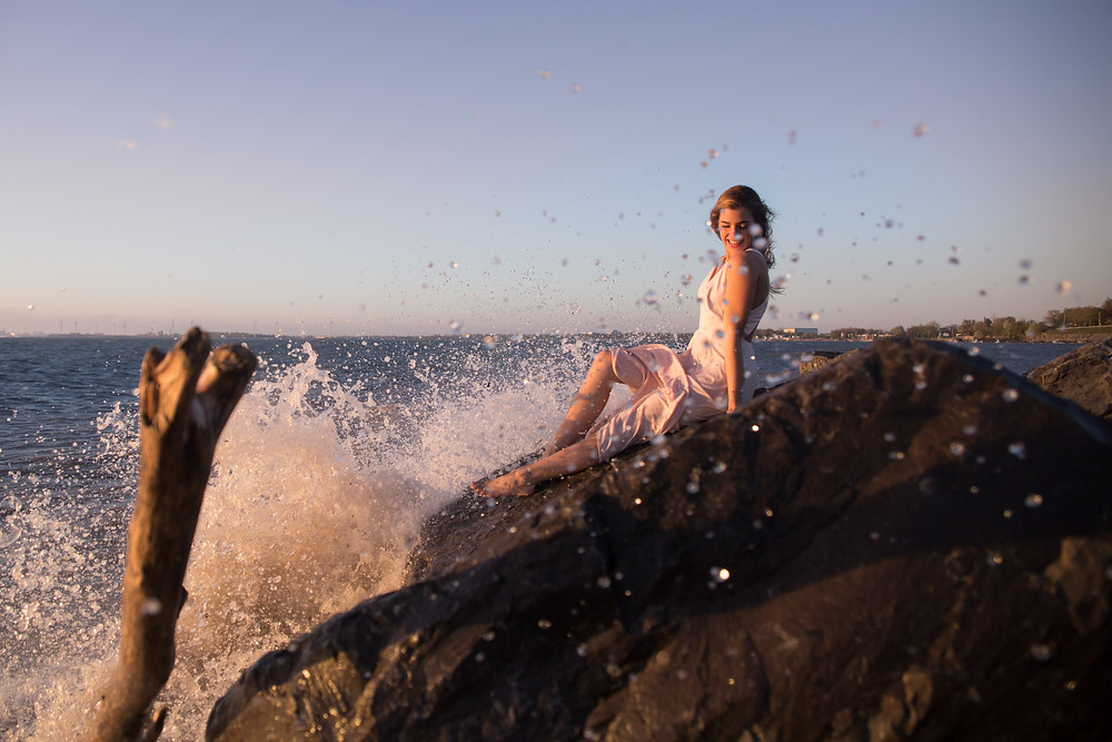 catching waves at hamburg beach new york boudoir session lake erie