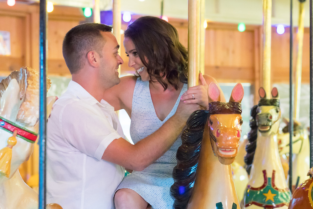 Herschell Carrousel Museum Tonawanda Engagement Portrait Photography
