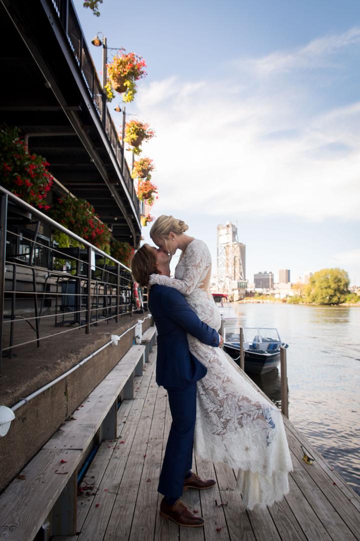 Adventurous Wild Bride and Groom Wedding