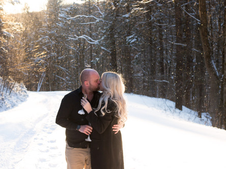 Ellicottville New York Winter Engagement Session