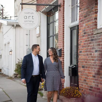 Erin + Justin's East Aurora fall engagement session | Elm Street Bakery + Knox Farm