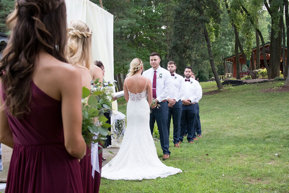 spring lake winery wedding ceremony lockport