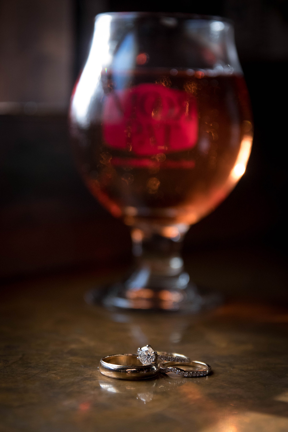 craft beer and wedding rings Moor Pat Pub Williamsville NY