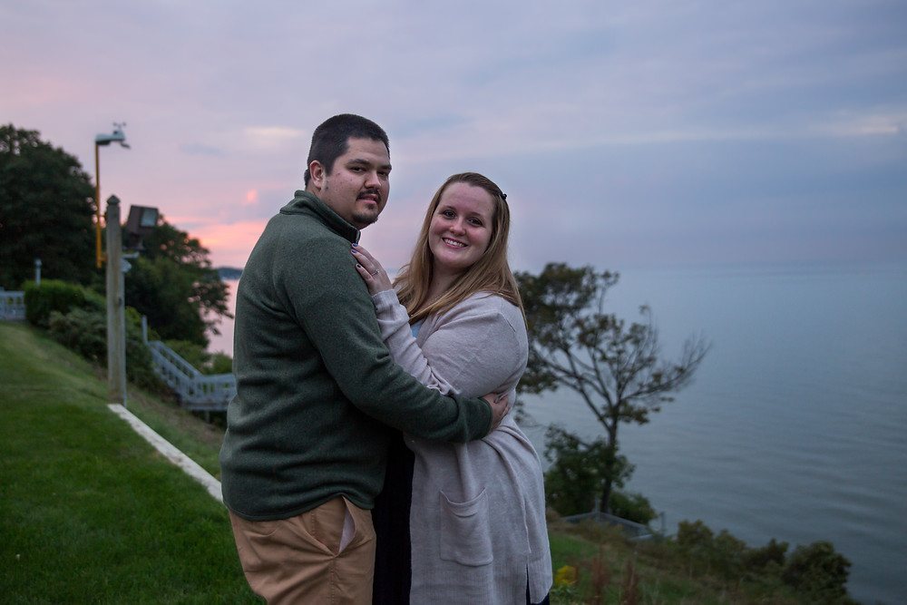 engagement couple photo Durand Beach Rochester NY