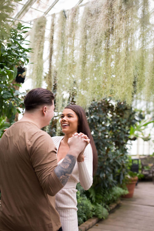 Buffalo Erie County Botanical Gardens engagement photo