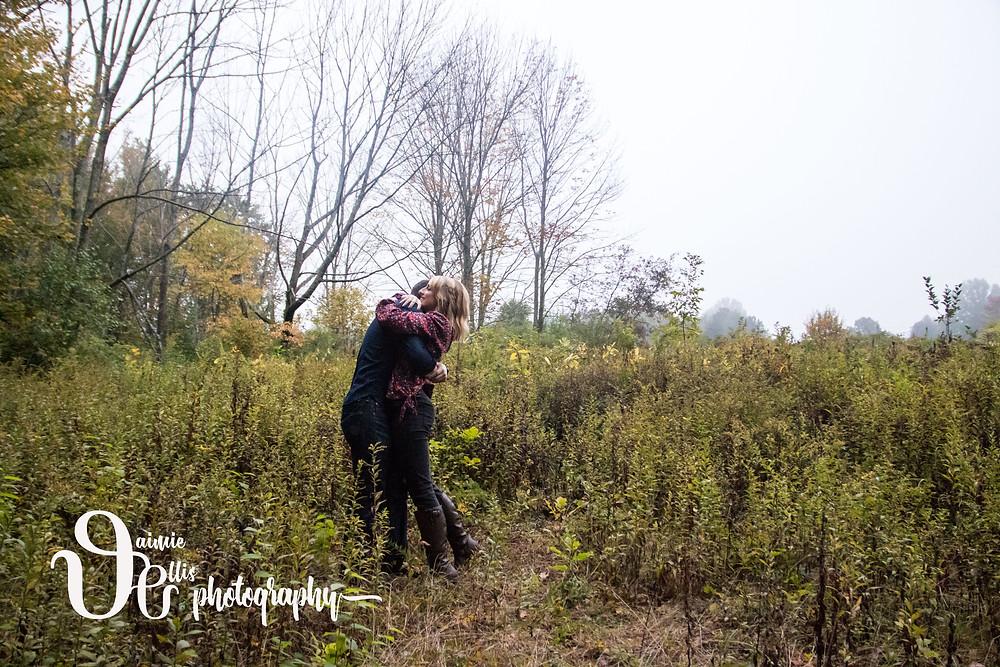 chestnut ridge park engagement photo