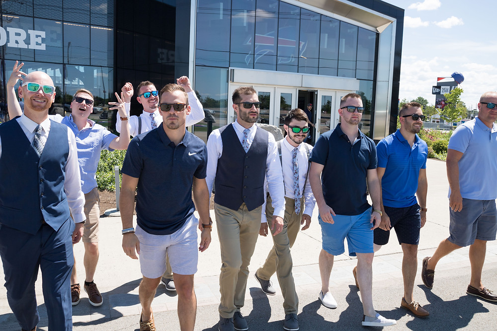 groomsmen Buffalo Bills new era field