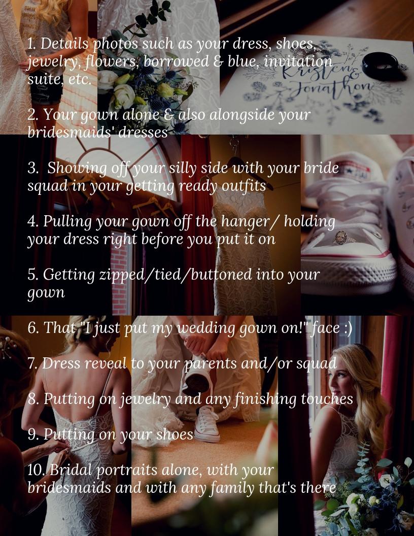 Buffalo wedding photography tips