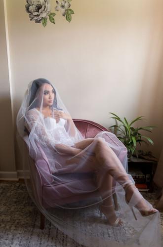 bridal boudoir with veil_Buffalo boudoir