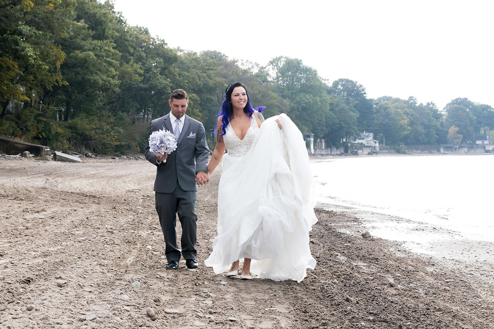 Pioneer Camp Retreat Angola on the Lake Erie Wedding Bride Beach Portrait Photo WNY Top 10 Venue