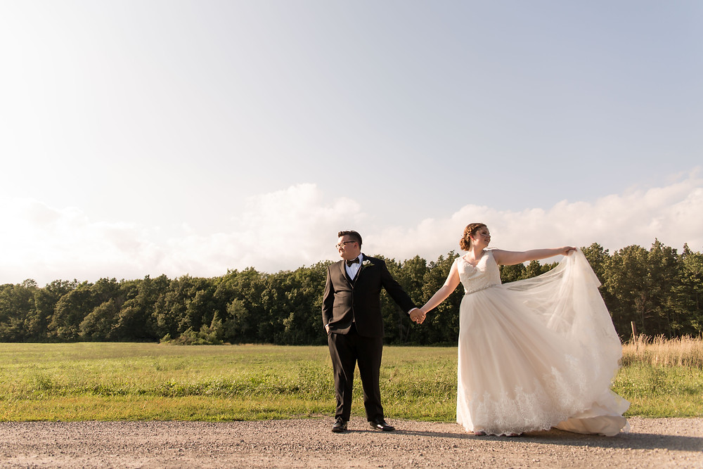 bridal portrait Becker Farms Gasport NY summer wedding elopement