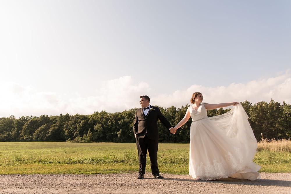 bridal portrait Becker Farms Gasport NY summer wedding elopement