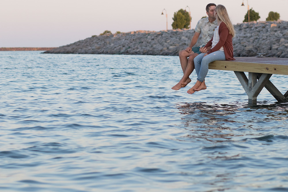 Gallagher Beach Sunrise Engagement Photography Buffalo NY