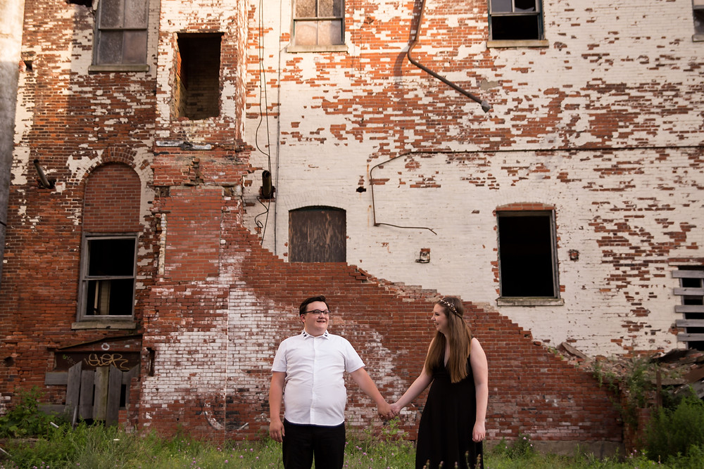 Silo City Buffalo couples engagement photo shoot