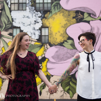 Stacy + Jeanette's downtown Buffalo adventures + Hamburg Beach engagement shoot