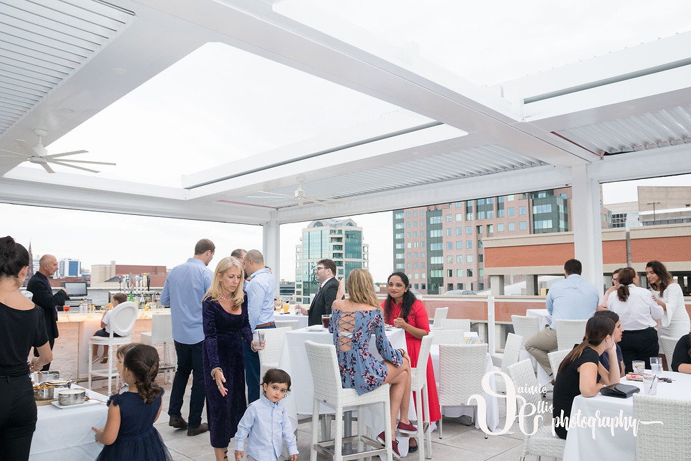 Curtiss Hotel Buffalo Rooftop Party Wedding Rehearsal