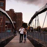 Buffalo Canalside Engagement Session