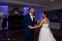 bride and groom's first dance at Mansion on Delaware Buffalo NY wedding