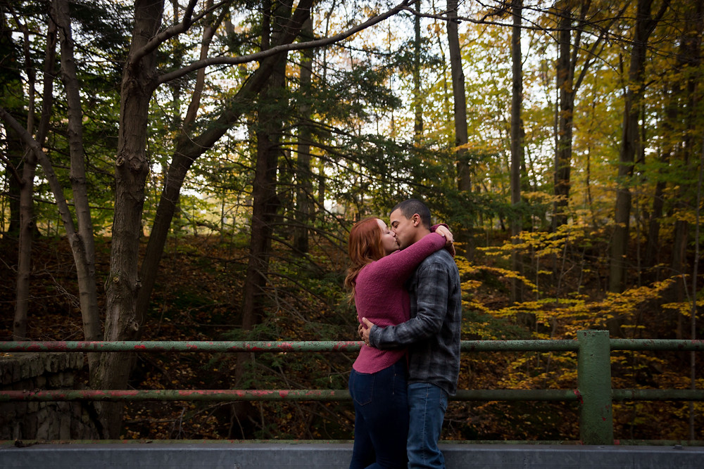 golden hour fall engagement couple shoot at Chestnut Ridge Orchard Park