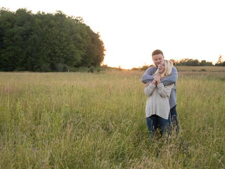 Kristen & Jon's Engagement Session at Knox Farm in East Aurora