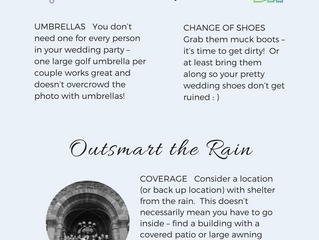 5 Tips for Rainy Wedding Portraits that Won't Put a Damper on your Day