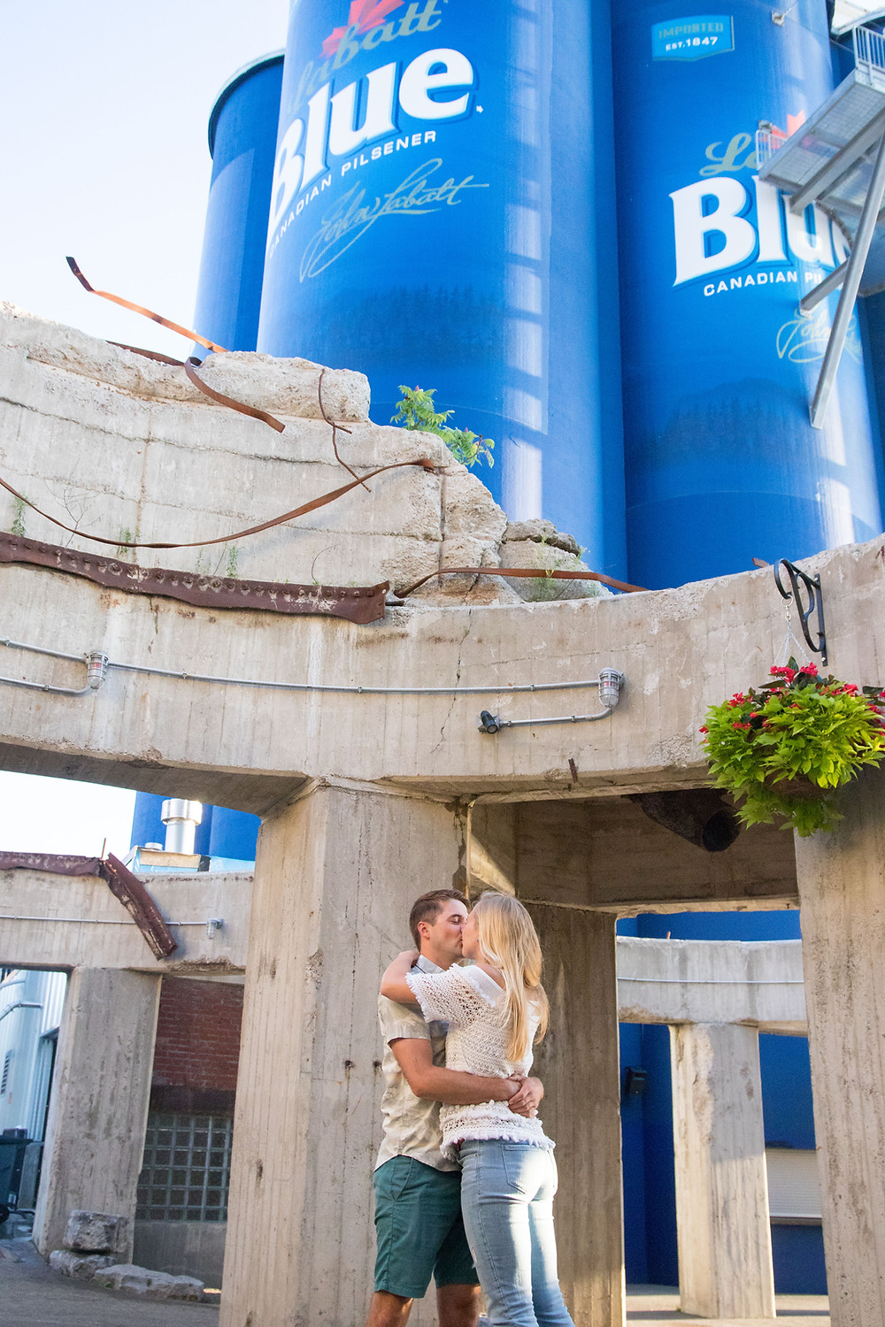 Buffalo Riverworks Engagement Portrait Photography