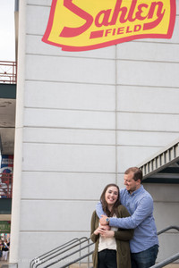 Sahlen Field Buffalo Bisons Baseball adventure engagement photo