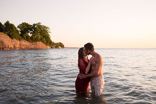 Couples beach sexy photo shoot in water_