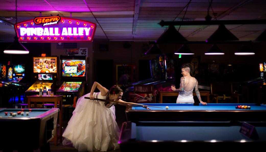 Pocketeer Billiards wedding day pinball