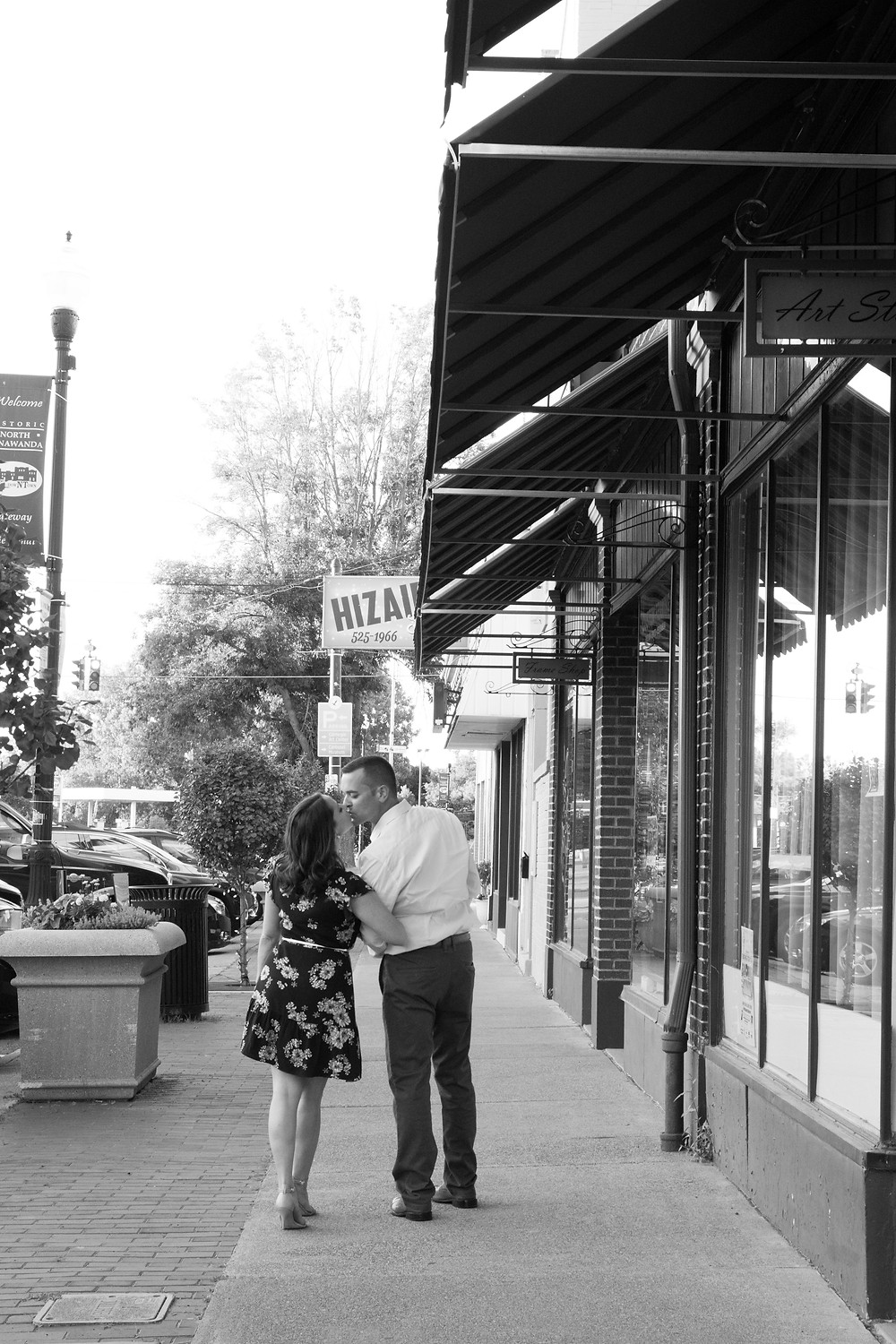 Webster Street Tonawanda Engagement Portrait Photography