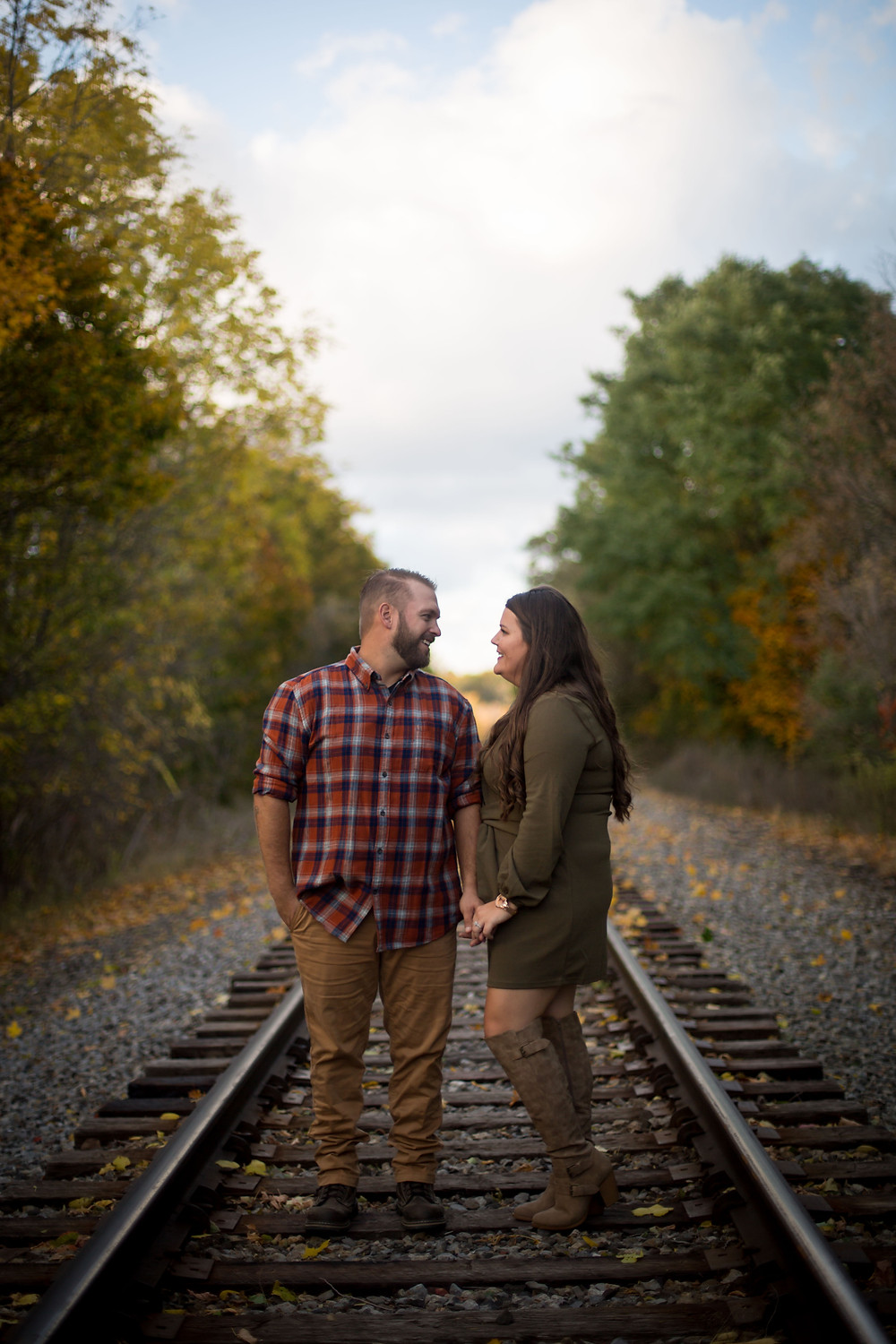 best fall foliage east aurora ny engagement photo