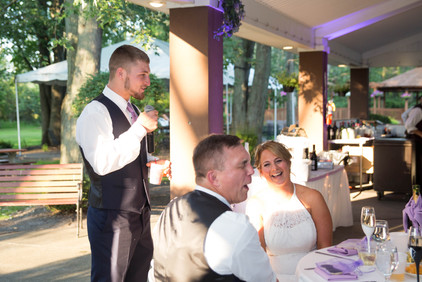 groomsman speech at Banchetti by Rizzo Buffalo NY wedding reception